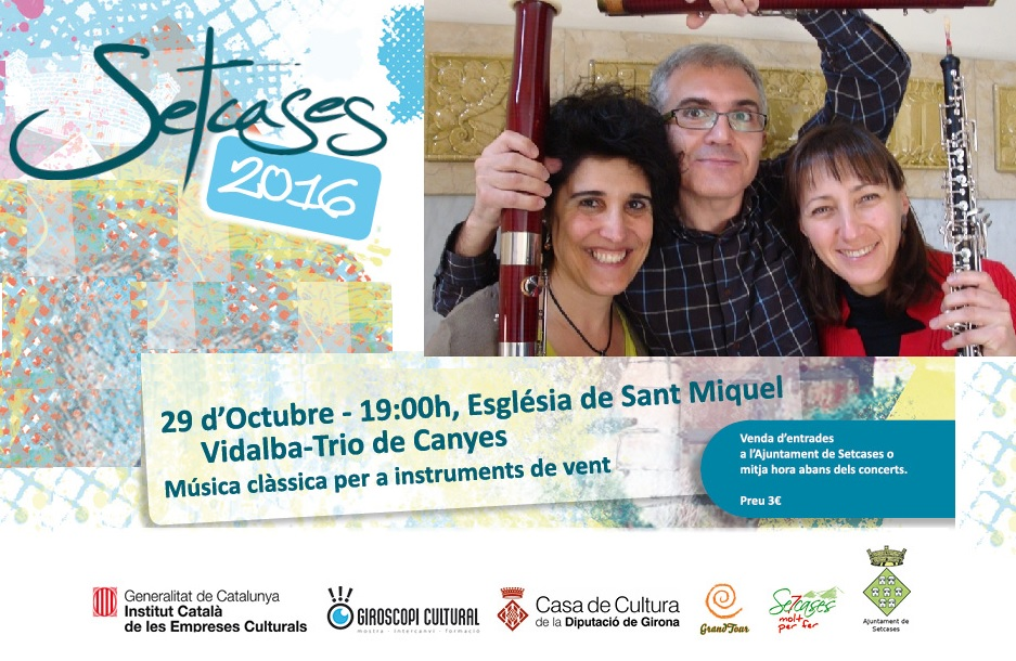 Cartell Concert TRIO de canyes